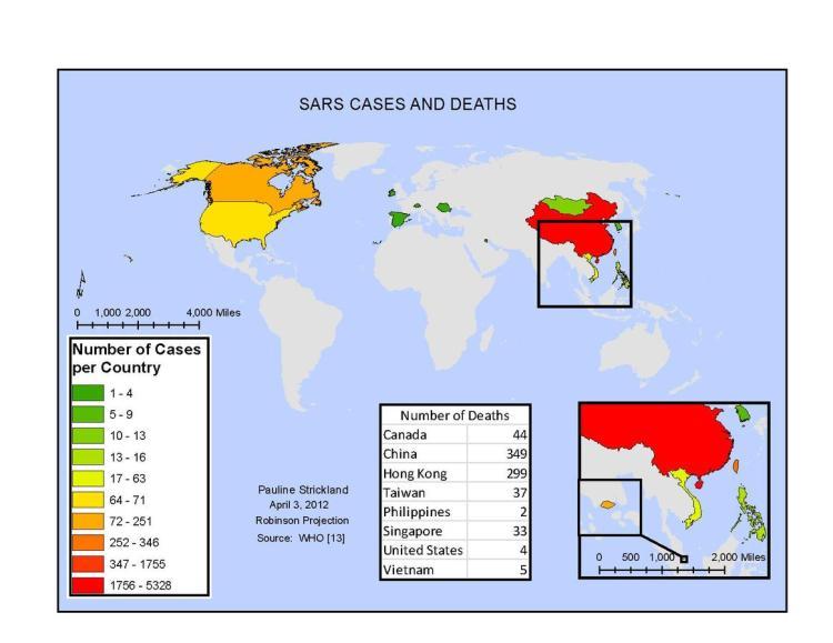 2002-2003全球SARS疫情