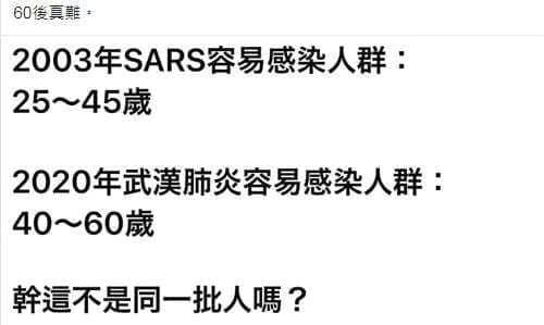 SARS 誰染病